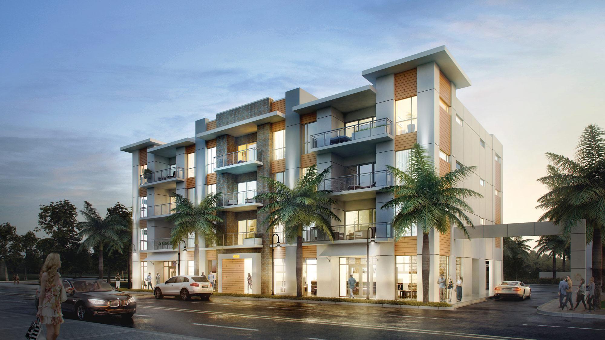Community orange club burns square sarasota fl for Modern condo building design
